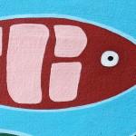 pesce particolare rosso